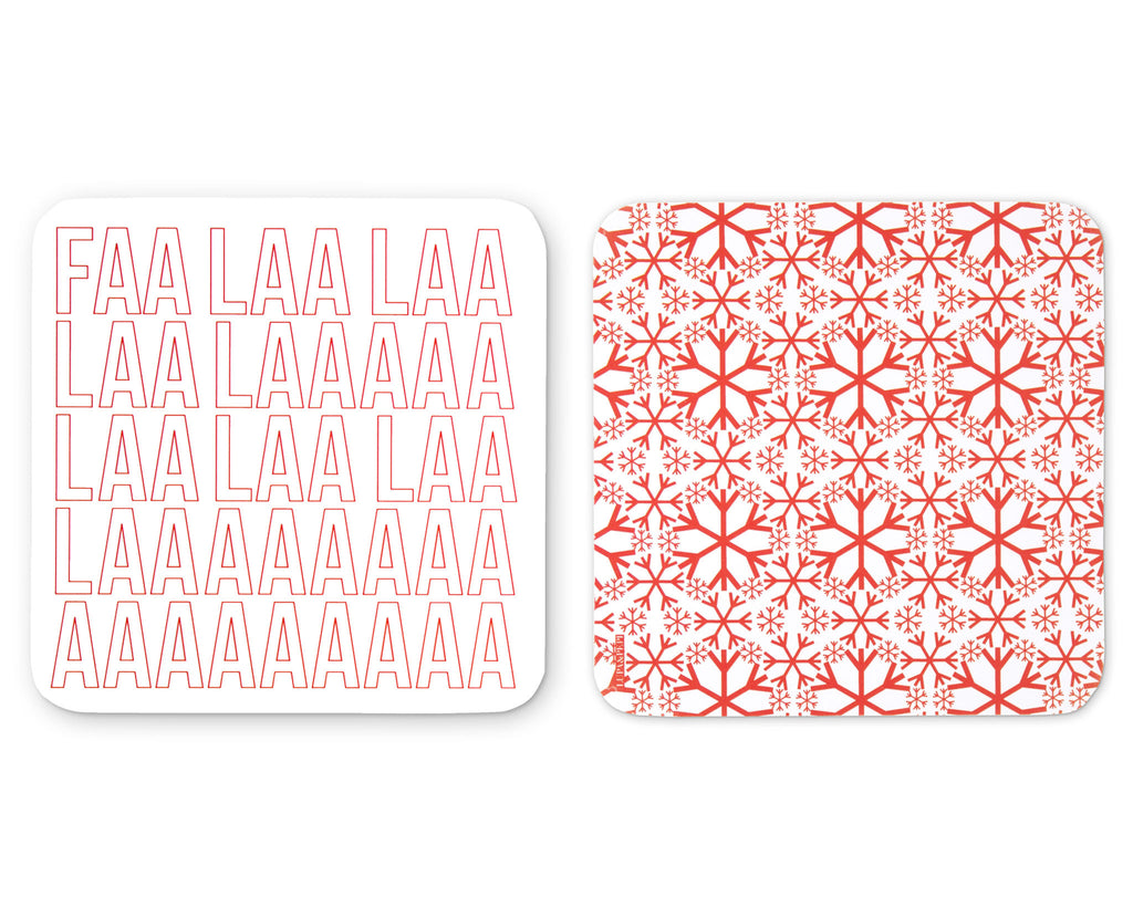 Fa La La Coaster Front and Back