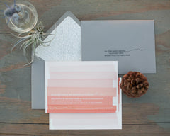 Tramonto Custom Rehearsal Dinner Invitation Suite with Envelope Liner and Printed Envelopes