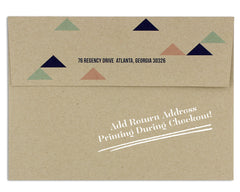 Geometrica Announcement Envelope Return Address on Back Flap