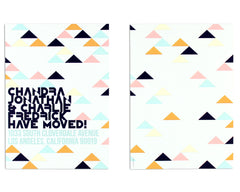 Geometrica Announcement or Invitation Front and Back
