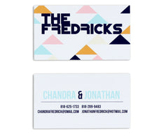 Geometrica Personalized Business Card Front and Back