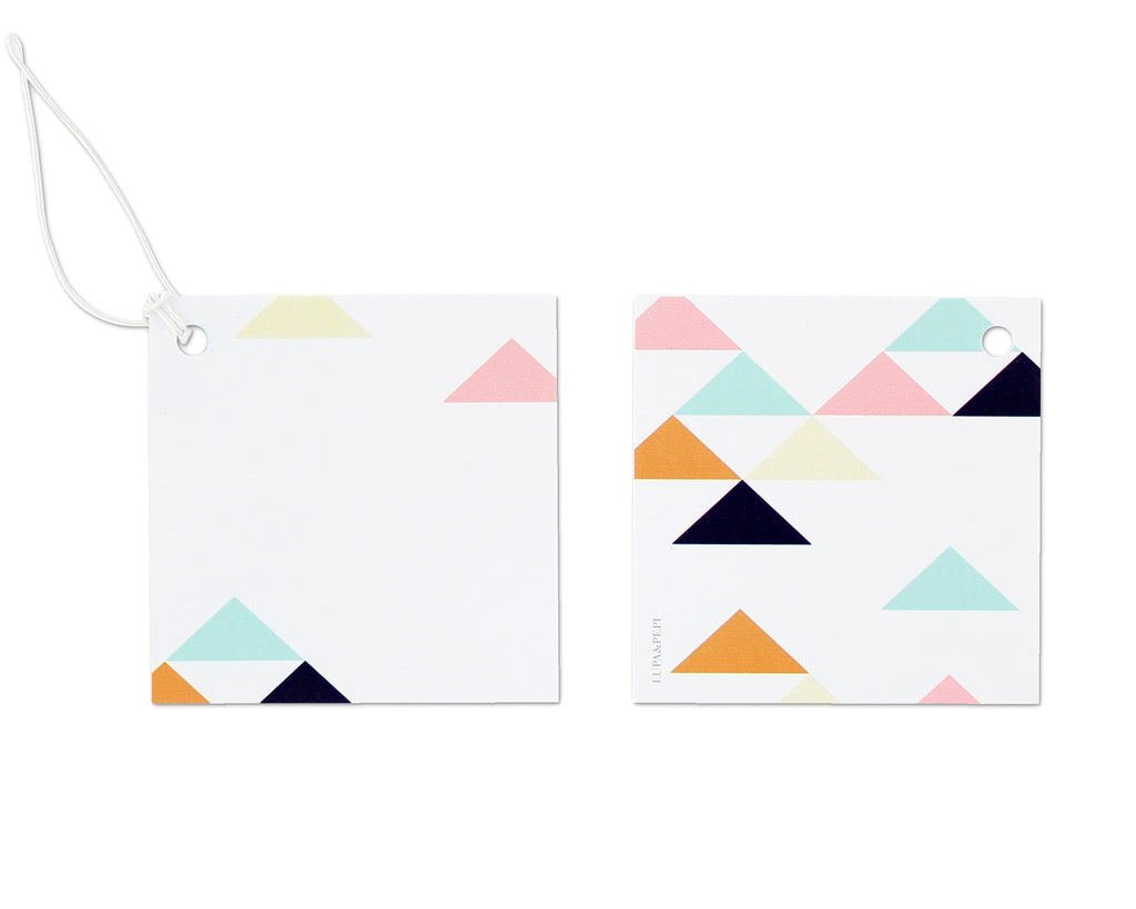 Geometrica Gift Tag Front and Back