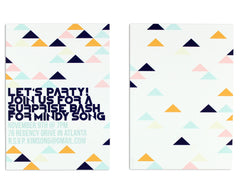 Geometrica Invitation Front and Back