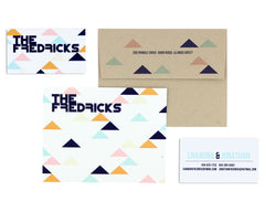 Geometrica Personalized Notecard Back with Envelope and Business Card Front and Back