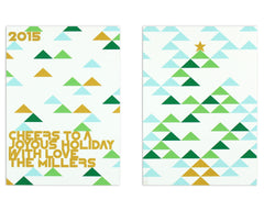 Holimetrica Holiday Card Front and Back