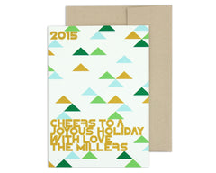 Holimetrica Holiday Card with Envelope