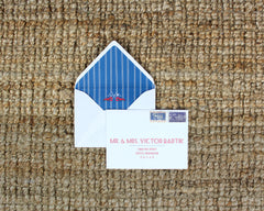 Maine Lobsters in Love Envelope Liner and Mailing Address