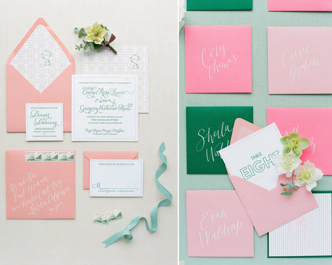 Mint & Peach Charleston Wedding