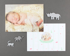 Baby Announcement Card Front and Back