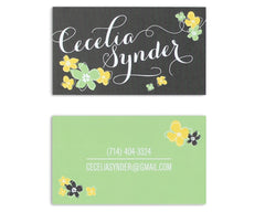 Petalo Personalized Business Card Front and Back