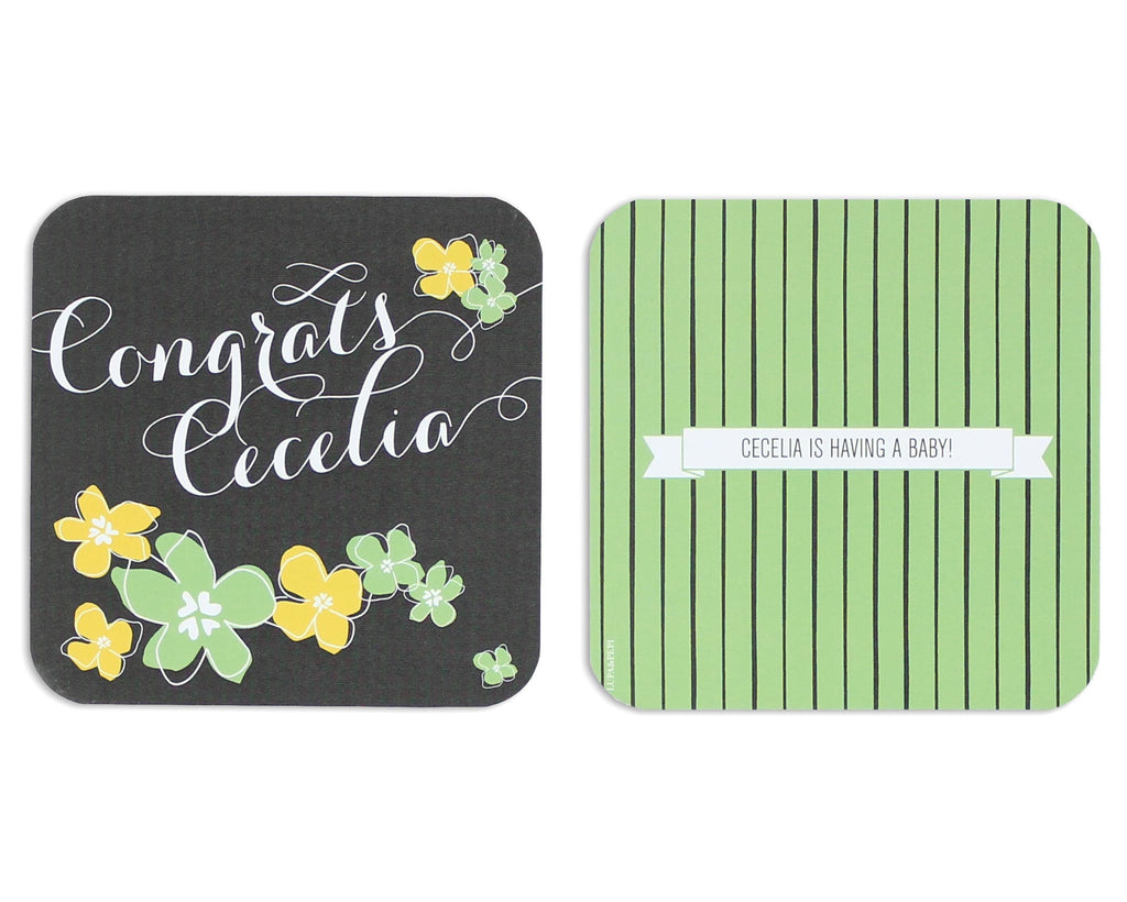 Petalo Personalized Coaster Front and Back