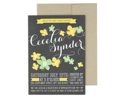 Petalo Invitation with Return Address on Envelope Back Flap