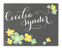 Petalo Personalized Notecard Front and Back