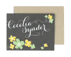 Petalo Personalized Notecard Front with Envelope