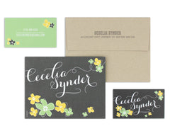 Petalo Notecard & Business Card Set