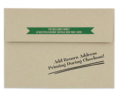 Pigna Holiday Card Envelope Return Address on Back Flap