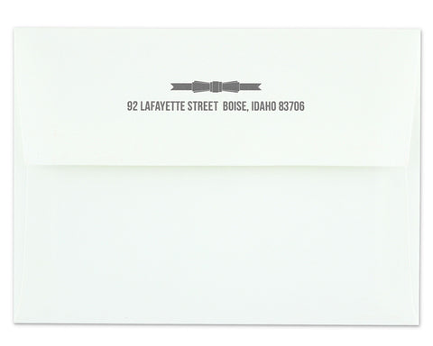 Regalo Return Address Printing