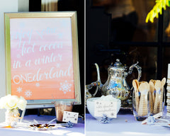 Dessert Table Cards on Pine Cones and Chocolate Poster Sign