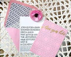 XOXO Baby Shower Invitation