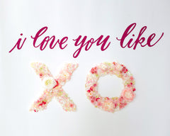 XOXO Baby Shower Flower Backdrop