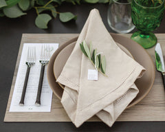 Elegant Ranch and Vineyard Wedding Meal Menu and Tag