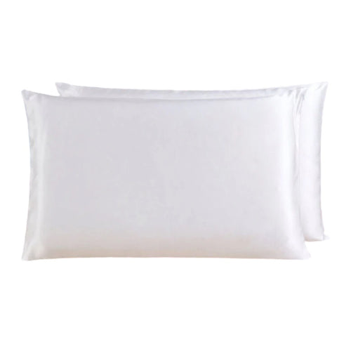 Sheba & Mulberry Silk Zipper Pillow Case - Majesty white