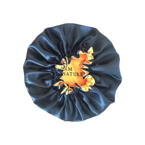 I AM NATURELLE large satin bonnet