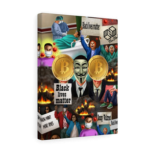 Satoshi Nakamoto WallSteet Slaughter (Covid Inspired Collection)- Canvas Wall Art
