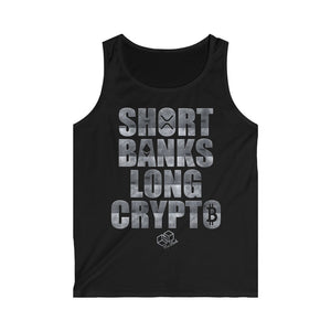 Short Banks Long Crypto - Men's Tank Top