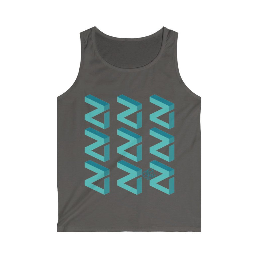 Zilliqa Scattered Logo (ZIL) - Men's Tank Top - Mr. Block Crypto Store