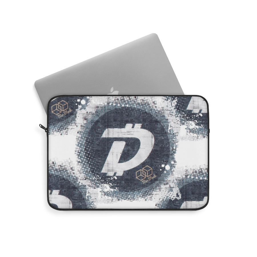 Digibyte Logo Splash- Laptop Sleeve