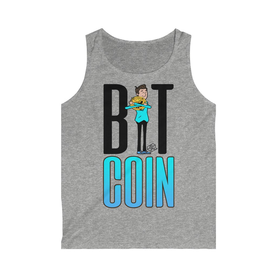Love Bitcoin Hugging BTC - Men's Tank Top