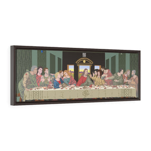 The Crypto Last Supper (Close Up) -  Framed Wall Art Canvas