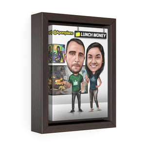 Pomp Lunch Money - Bitcoin and Blockchain Influencer- Framed Wall Art Canvas