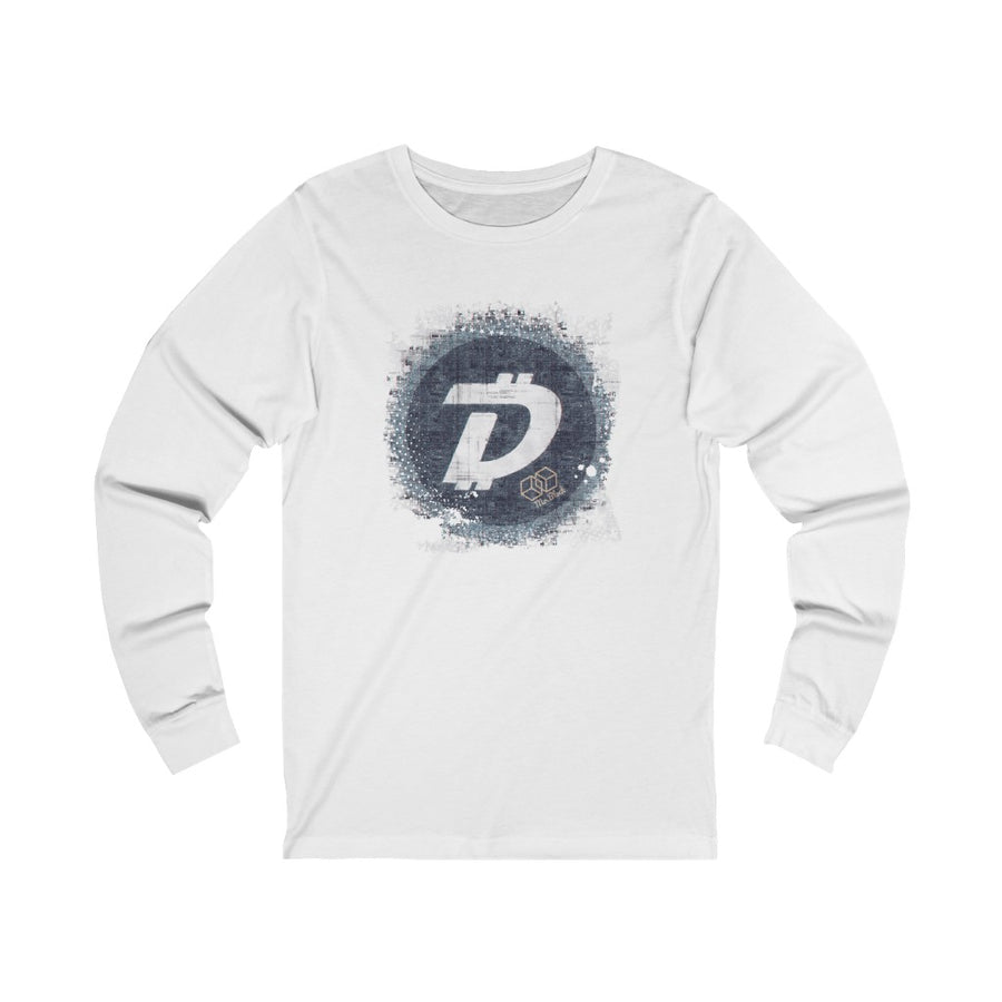 Digibyte Logo Splash- Unisex Long Sleeve Tee