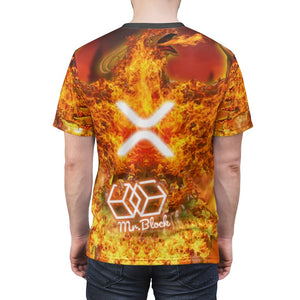 "XRP ""The Pheonix"" - Unisex AOP Cut & Sew Tee - Mr. Block Crypto Store"