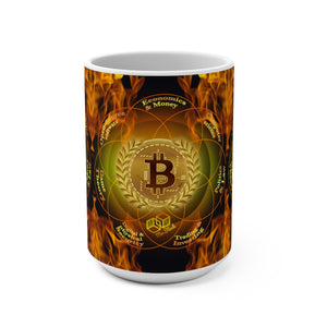 Bitcoin Gold Wreath (BTC) - Mug 15oz