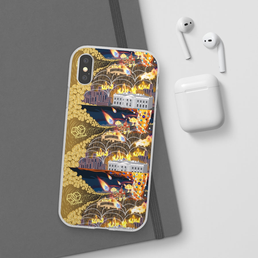 The Perfect Crypto Storm (Bitcoin and DEFI)- Phone Cases (iphone + Samsung)