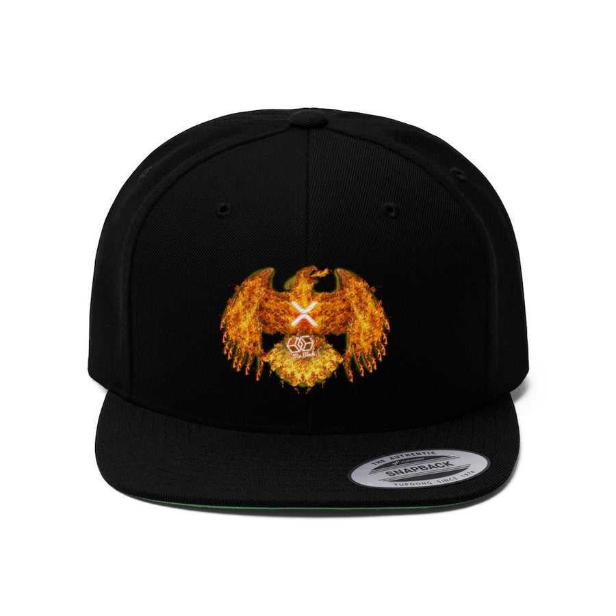 "XRP ""The Pheonix"" - Unisex Flat Bill Hat - Mr. Block Crypto Store"