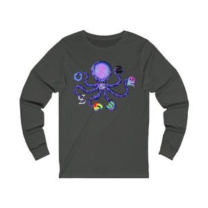 Yearn Finance Defi Monster (YFI) - Unisex Long Sleeve Tee - Mr. Block Crypto Store