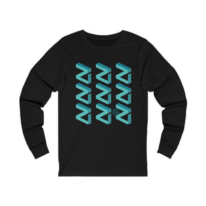 Zilliqa Scattered Logo (ZIL) - Unisex Long Sleeve Tee - Mr. Block Crypto Store