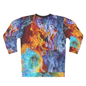Wind, Fire, and Ice - Satoshi Nakamoto Bitcoin Edition (BTC) - AOP Unisex Sweatshirt
