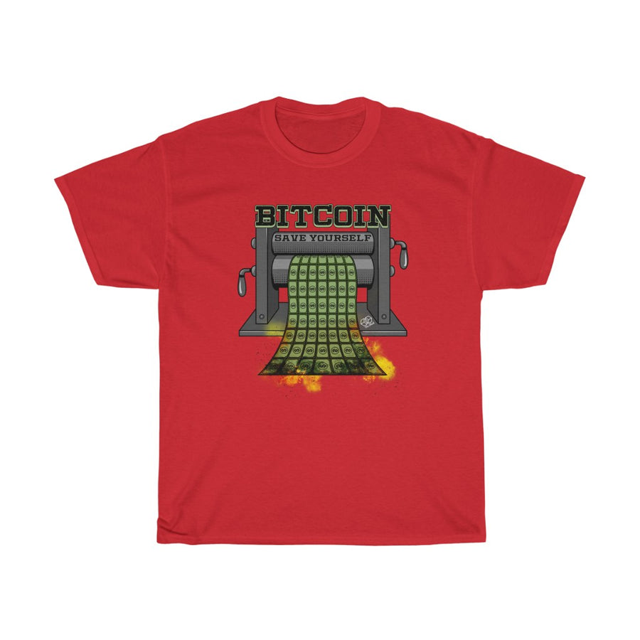 Bitcoin Save yourself, Money Printer go BRR- Unisex Crypto Tee