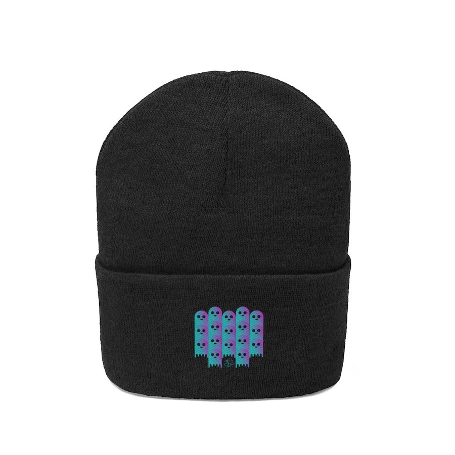Lend Defi Ghost theme (aave)- Knit Beanie - Mr. Block Crypto Store