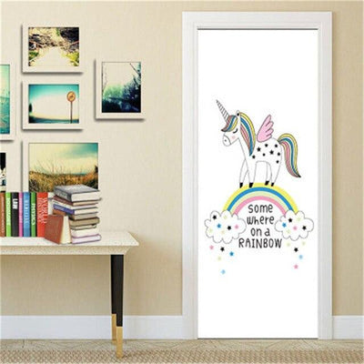 Stickers Porte Licorne