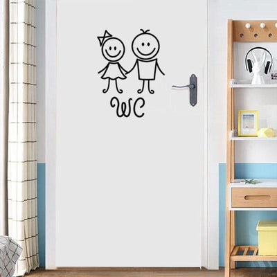Stickers Porte WC Enfant