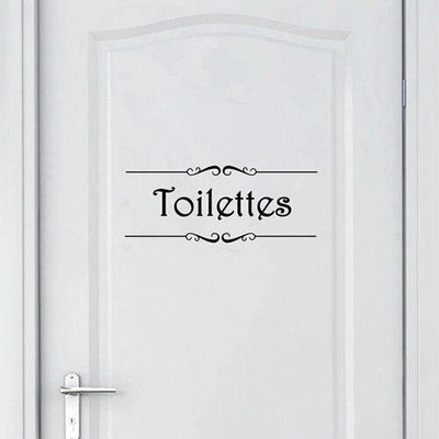 Stickers Porte WC Homme Femme