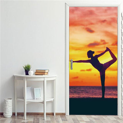 Stickers Porte Yoga