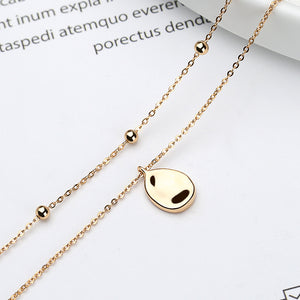 Pluie gold plated sterling silver necklace