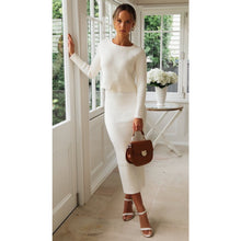 Load image into Gallery viewer, Amber Knit Top - White